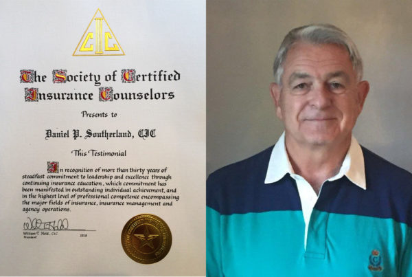 Pate Southerland and his CIC diploma